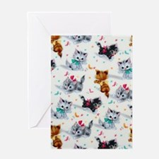 Cute Playful Kittens Greeting Cards