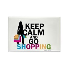 Keep Calm and Go Shopping Magnets