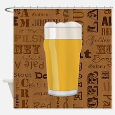 Types of Beer Series Print 2 Shower Curtain