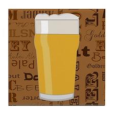 Types of Beer Series Print 2 Tile Coaster