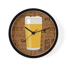 Types of Beer Series Print 2 Wall Clock