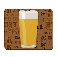 Types of Beer Series Print 2 Mousepad