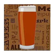 Types of Beer Series Print 3 Tile Coaster