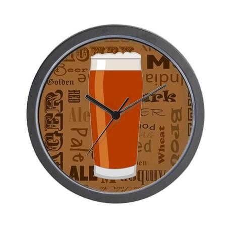 Types of Beer Series Print 3 Wall Clock by cutetoboottoo