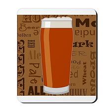 Types of Beer Series Print 3 Mousepad