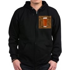 Types of Beer Series Print 3 Zip Hoodie