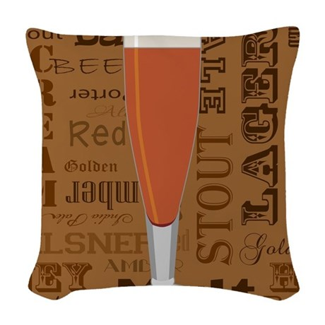 Types of Beer Series Print 6 Woven Throw Pillow by ...