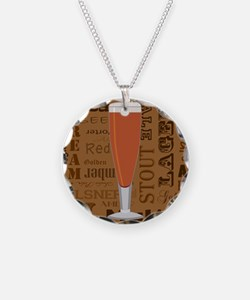 Types of Beer Series Print 6 Necklace