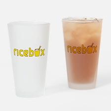 Rice Box Logo Drinking Glass