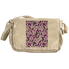Purple Butterflies Messenger Bag