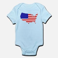 American Map Flag Body Suit
