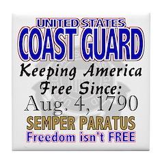 United States Coast Guard Freedom Isn't Free Tile