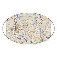 TDM Boundaries Texas Dallas Mission Map Decal