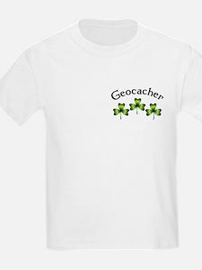 Geocacher 3 Shamrocks T-Shirt
