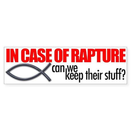 Rapture Sticker (Bumper)