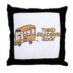 3rd Grade Throw Pillow