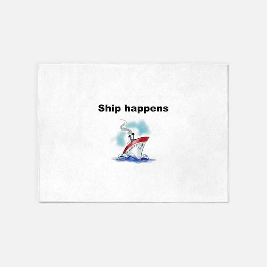Ship happens 5'x7'Area Rug