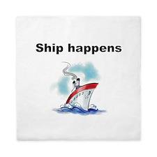Ship happens Queen Duvet