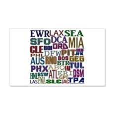 Airport Codes Wall Decal