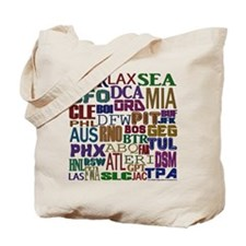 Airport Codes Tote Bag