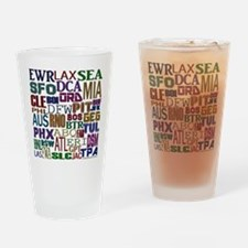 Airport Codes Drinking Glass