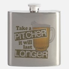 Beer Humor Take A Pitcher Flask