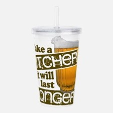 Beer Humor Take A Pitc Acrylic Double-wall Tumbler