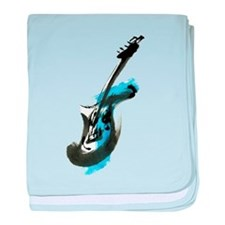 Electric guitar baby blanket