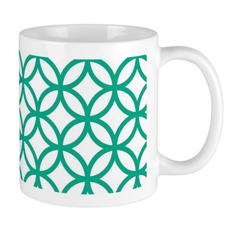 Green Decorative Pattern Mugs