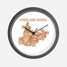 Pigs are Cool Wall Clock