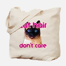 Cat Hair Dont Care Tote Bag