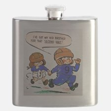 IVE GOT MY KID BROTHER FOOTBALL Flask