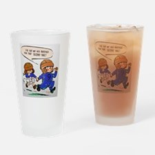 IVE GOT MY KID BROTHER FOOTBALL Drinking Glass