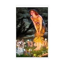 Fairies & Yorkie (T) Rectangle Decal