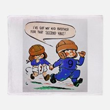 IVE GOT MY KID BROTHER FOOTBALL Throw Blanket
