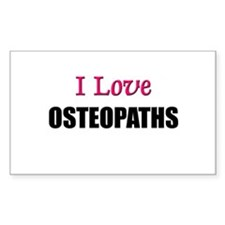 I Love OSTEOPATHS Rectangle Decal