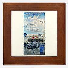 Jones Beach Boardwalk Framed Tile