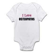 I Love OSTEOPATHS Infant Bodysuit
