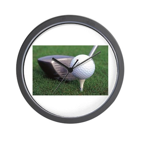 Gift for golfer Wall Clock