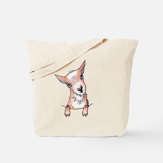 KiniArt Pocket Goat Tote Bag