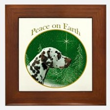 Dalmatian Peace Framed Tile