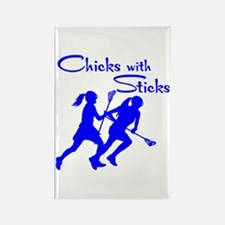 CHICKS WITH STICKS Rectangle Magnet