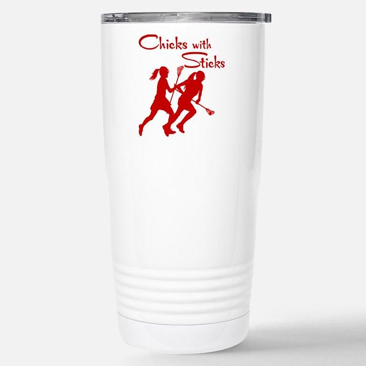 CHICKS WITH STICKS Travel Mug