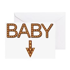 Baby in lights Greeting Card