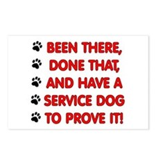 SERVICE DOG Postcards (Package of 8)