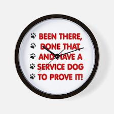 SERVICE DOG Wall Clock
