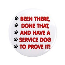 SERVICE DOG Button