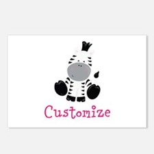 Custom Baby Zebra Postcards (Package of 8)