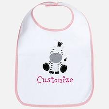 Custom Baby Zebra Bib