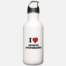 I love Fiftieth Annive Water Bottle